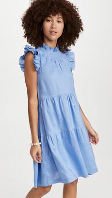 Sea Tier Waverly Flutter Sleeve Dress