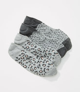 LOFT Leopard Print No Show Sock Set