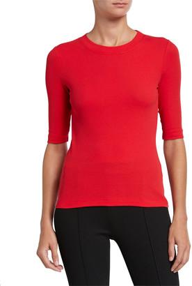 Rosetta Getty Cropped-Sleeve T-Shirt