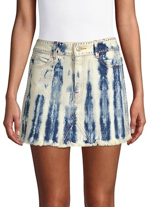 Frankie B. Cindy Denim Mini Skirt