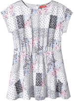 Joe Fresh Kid Girls' Patchwork Print Dress, Off White (Size M)