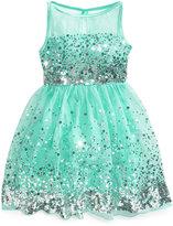 Crystal Doll Sequin Illusion Dress, Big Girls (7-16)