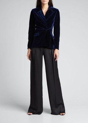Chiara Boni Karin Collared Velvet Jacket