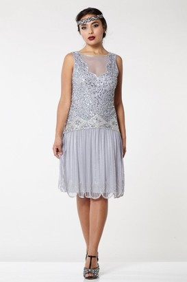 Gatsbylady London Elaina Drop Waist Flapper Dress in Lilac
