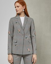 Ted Baker Embroidered Checked Jacket