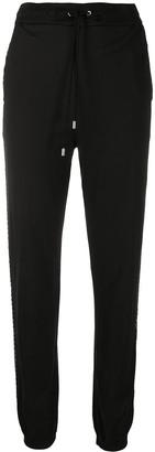 Alberta Ferretti Crystal-Stripe Track Pants