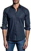Jared Lang Trim Fit Angle Stripe Sport Shirt