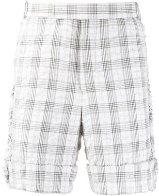 Thom Browne Seersucker Tweed Tailored Shorts