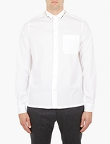 Valentino White Studded Cotton Shirt