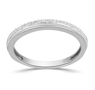 Modern Bride 5.5MM Diamond Accent Genuine White Diamond Sterling Silver Round Wedding Band Family