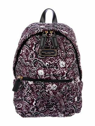 Marc Jacobs Quilted Leather Embellished Backpack Purple