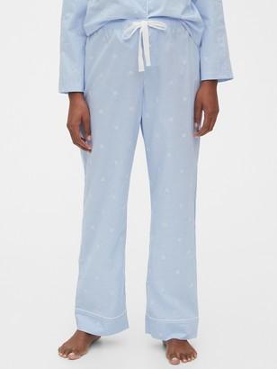 Gap Relaxed Pajama Pants in Poplin