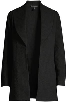 Eileen Fisher Shawl Collar Tweed Jacket