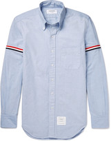 Thom Browne - Slim-fit Grosgrain-trimmed Cotton Oxford Shirt