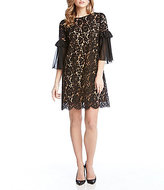 Karen Kane Ruffle Sleeve Lace Dress