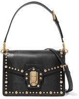 Dolce & Gabbana Lucia Studded Lizard-effect Leather Shoulder Bag