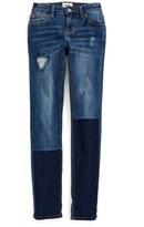Hudson Repaired Straight Leg Jeans (Little Girls)