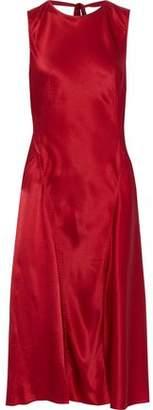 Alberta Ferretti Silk-satin Crepe Dress