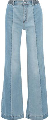 Stella McCartney Kendal Paneled High-rise Flared Jeans