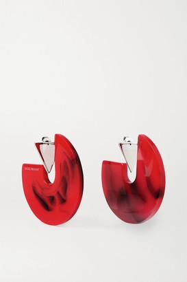 Isabel Marant Silver-tone And Enamel Hoop Earrings