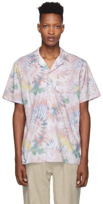Bather Pink Acid Tie-Dye Camp Shirt
