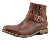 Bed Stu Becca Women Round Toe Leather Burgundy Boot.
