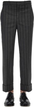 Neil Barrett PINSTRIPED WIDE LEG VISCOSE BLEND PANTS