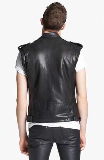 BLK DNM Leather Moto Vest