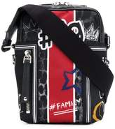 Dolce & Gabbana Graffiti print messenger bag