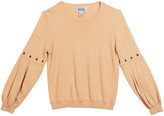 Autumn Cashmere Girl's Balloon Sleeve Sweater, Size 8-16
