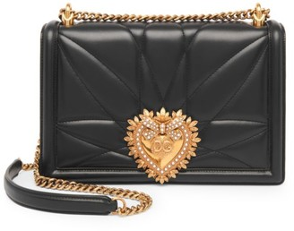 Dolce & Gabbana Large Devotion Quilted Leather Shoulder Bag