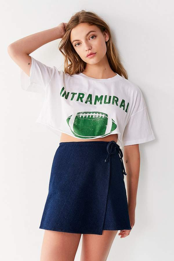 Truly Madly Deeply Varsity Cropped Tee