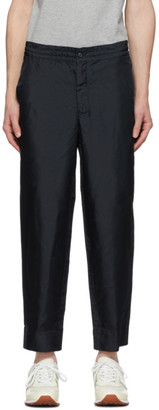 Comme des Garcons Homme Deux Navy Twill Garment-Dyed Trousers