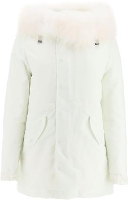 Mr & Mrs Italy New York Warm Fox Fur Short Parka Jacket