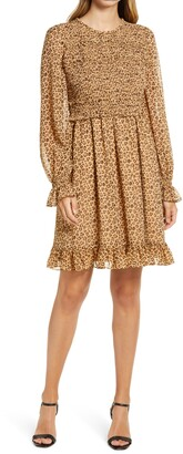 Rachel Parcell Smocked Ruffle Dress