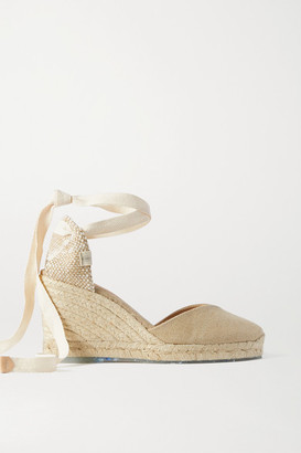 Castaner Net Sustain Chiara 80 Canvas Wedge Espadrilles