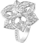 Boucheron Pensée de Diamants 18ct white-gold and diamond medium ring