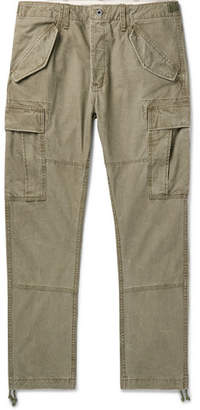 Polo Ralph Lauren Tapered Washed-Cotton Cargo Trousers