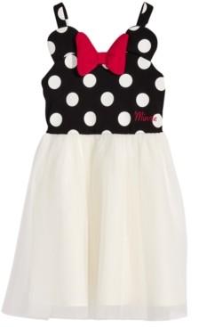 Disney Disney's Little Girls Minnie Mouse Polka Dot & Mesh Dress