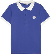Moncler Contrasting collar cotton polo shirt 4-14 years