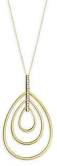 Carelle Women's Moderne Diamond & 18K Yellow Gold Trio Teadrop Pendant Necklace