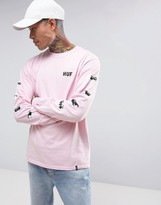 Huf X Pink Panther Long Sleeve T-shirt With Sleeve Print