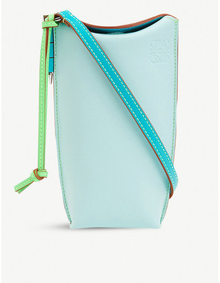 Loewe x Paula's Gate Pocket leather bucket bag