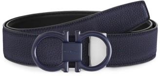 Salvatore Ferragamo Double Buckle Reversible Leather Belt