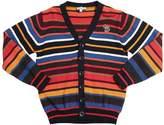 Paul Smith Striped Cotton Blend Knit Cardigan