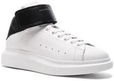 Alexander McQueen Strap Platform High Top Leather Sneakers