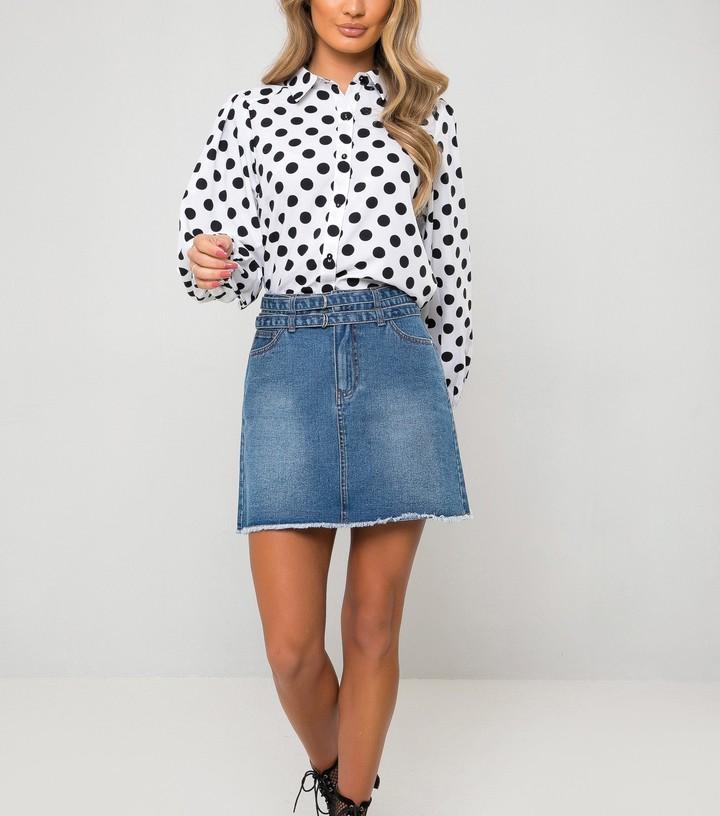 New Look Urban Bliss Belted Denim Skirt