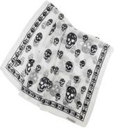 Chiffon skull scarf