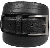 Yours Clothing BadRhino Mens Accessories Plus Size Textured Leather Belt Solid Metal Buckle