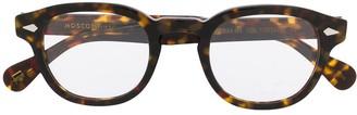 MOSCOT Tortoiseshell Square-Frame Glasses